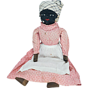 1800s Black Americana Mammy Doll with *RARE* Shoe Button Eyes