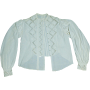Handmade Vintage Norwegian Hardanger Wedding Blouse