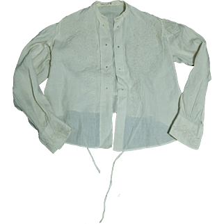 Vintage Handmade Embroidered Cotton Blouse