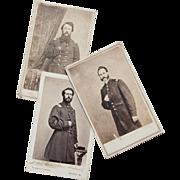 Set of Three Civil War Era Military Photographs
