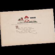 Vintage Thanksgiving Postcard - Excellent Condition
