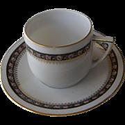 Demitasse cup and saucer | 1920's-1930' | Porzellanfabrik Adolf Persch | Czechoslvakia