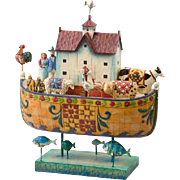 Collectible Jim Shore Heartwood Creek Noah's Ark | Large | w/ Box 2004 Enesco