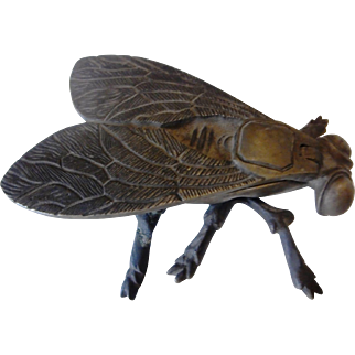 Vintage Brass Fly Ashtray | Signed | Portugal | c. 1940's-50's