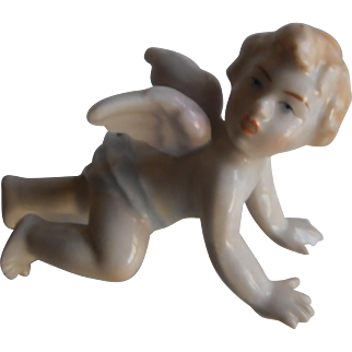 Antique Cherub Piano Baby / Hand Painted Porcelain | 19th Century
