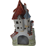 RARE Gothic Revival Style Castle | Fine colored bisque porcelaine | mid/late 19th Century