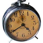 RARE Vintage Alarm Clock | Made by Veglia in Italy | circa 1930