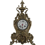 Table clock case in Louis XV style   Hand chased Solid Brass