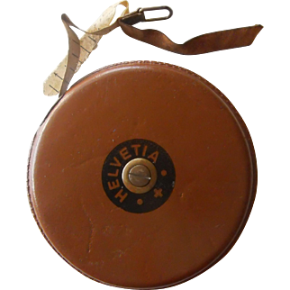 1960s | RARE SWISS Made Helvetia Wind Up ~ Retractable Measuring Tape | 30 meters