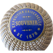 1878 : fine little braided metal box of the Universal Exhibition