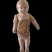 rare size . TAUFLING . papier mache doll . Ht 4 3/4 in