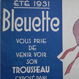SUMMER 1931 : original G L catalog for bleuette clothes