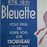 SUMMER 1931 : original G L catalog for bleuette clothes