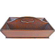 English Victorian solid mahogany knife tray cutlery carrier circa.1860
