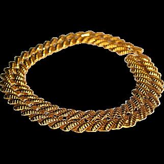 NAPIER PAT PEND Designer Gold Tone Polished Runway Bold Link Necklace
