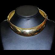 ALEXIS KIRK Designer Haute Couture Modernist Bold Runway Choker Collar Egyptian Necklace