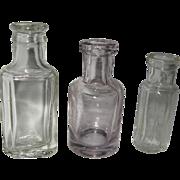 Three Small Early 20th Century Medicine Bottles