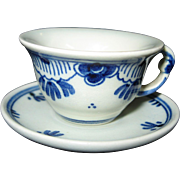 Delft Doll's Miniature Teacup and Saucer