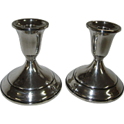 Elegant Pair of Towle Sterling Silver Candlesticks