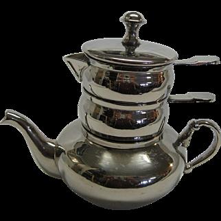Three Piece Silverplated Stacking Tea Set