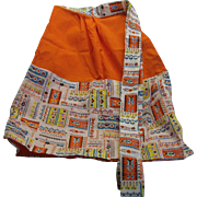 Cheery Retro 1960's-70's Two-Pocket Apron