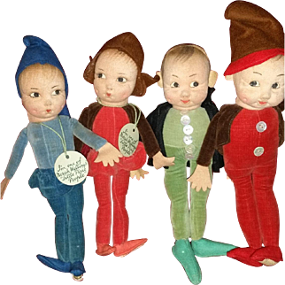 Four Little People Pixie People by Norah Wellings