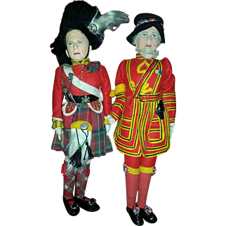Two English Dolls made by J.K. Farnell & Co