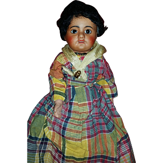 French black bisque doll