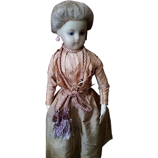 Antique Wax lady doll