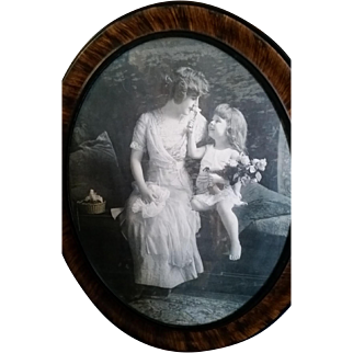 Antique picture of mother and child