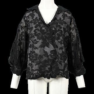 Christian Dior black lace blouse, 1990, Gianfranco Ferré