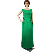 1960's Green Evening Dress from I. Magnin, San Francisco