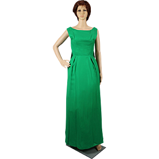 1960's Green Evening Dress from I. Magnin, San Francisco