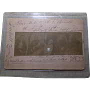 Outlaw DALTON Gang After Death Cabinet Card - 1894  - Very Cool Old West Historical Image - Authentic and Vintage - Free Shipping!