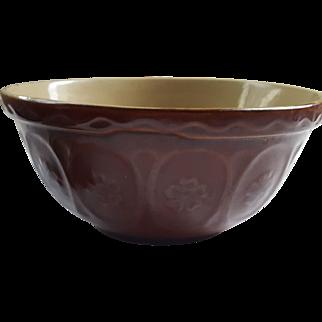 England Yellowware Yellow Ware mixing bowl brown glaze
