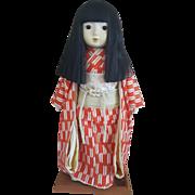 Vintage porcelain friendship oriental Asian Japanese Ichimatsu doll circa 1970's
