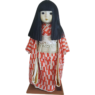 Vintage porcelain friendship oriental Asian Japanese Ichimatsu doll circa 1970's