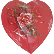 Fanny Farmer Vintage Valentines Day Candy Box Red Satin Roses