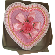 Vintage Pink Brach's Valentines Day Candy Heart Shaped box