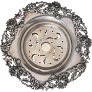 Ca. 1900 Rare Sterling Coquillor, Butter Dish