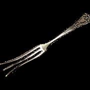 "Sterling Lemon Fork ""Pierced"" by Frank M. Whiting"