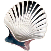 Tiffany & Co. New York, Makers, Sterling Silver Footed Seashell Dish