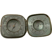 Meiji Period Bronze Toggle Compass