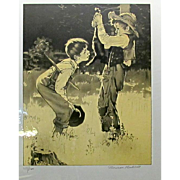 """Signed Norman Rockwell Suite """"TOM SAWYER"""" 8 Lithographs"""