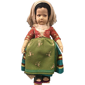 1930s Lenci girl with tags