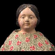 Early paper mache milliner model type doll