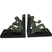 French Art Deco Bookends signed Carlier
