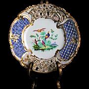 Sevres - Unique Decorative Reticulated Plate - ca. 1751-53 year - Manufacture Royale de la porcelaine de France - 18th Century