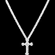 Pave Set 0.57 Carat Diamond Cross in 18 Karat White Gold