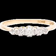 English Diamond Wedding Band in Platinum and 18K Yellow Gold